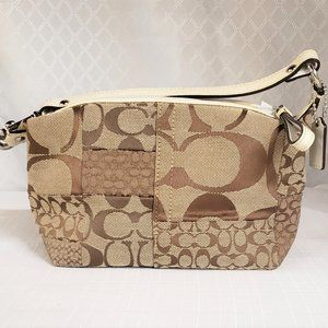 Small Authentic Coach Patchwork Logo Hobo Bag